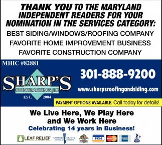 Thank You to the Maryland Independent Readers