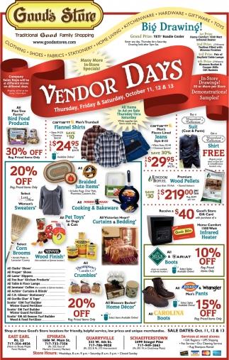 Vendor Days