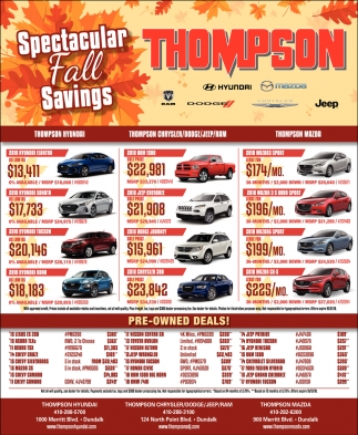 Spectacular Fall Savings
