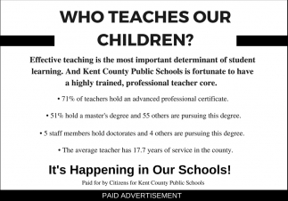 Who Teaches Our Children?