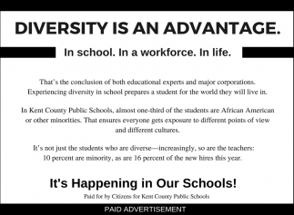 Diversity is an Advantage