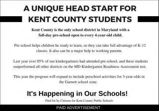 A Unique HeadStart for Kent County Students