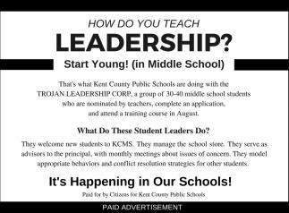 How do you Teach Leadership?
