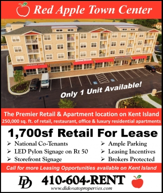 The Premier Retail & Apartment Location on Kent Island