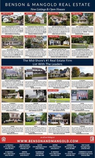 New Listing s & Open Houses, Benson & Mangold Real Estate, Chester, on