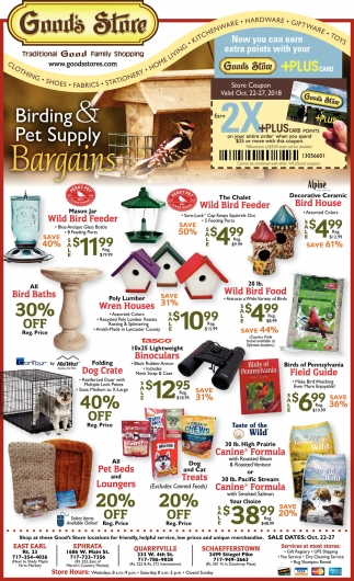 Birding & Pet Suply Bargains