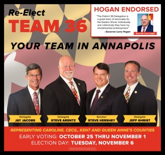 Re-Elect Team 36- Your Team in Annapolis