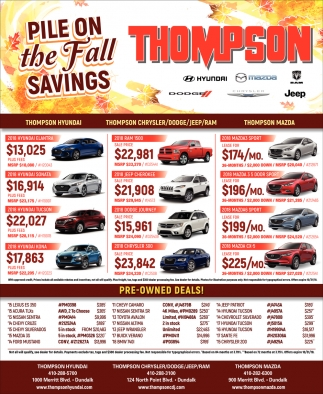 Pile the Fall Savings
