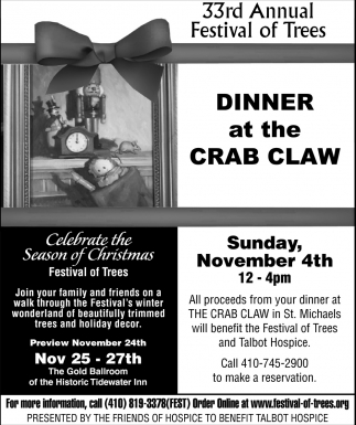 Dinner at the Crab Claw