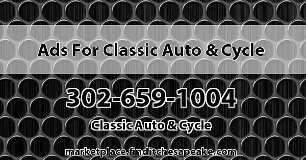 Ads for Classic Auto & Cycle