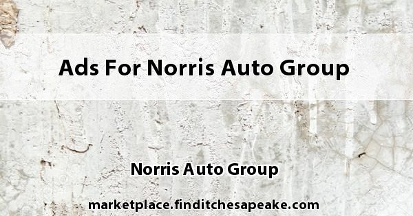 Ads for Norris Auto Group