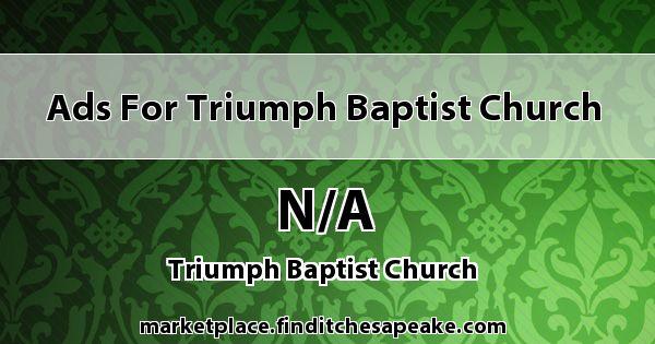 Ads for Triumph Baptist Church